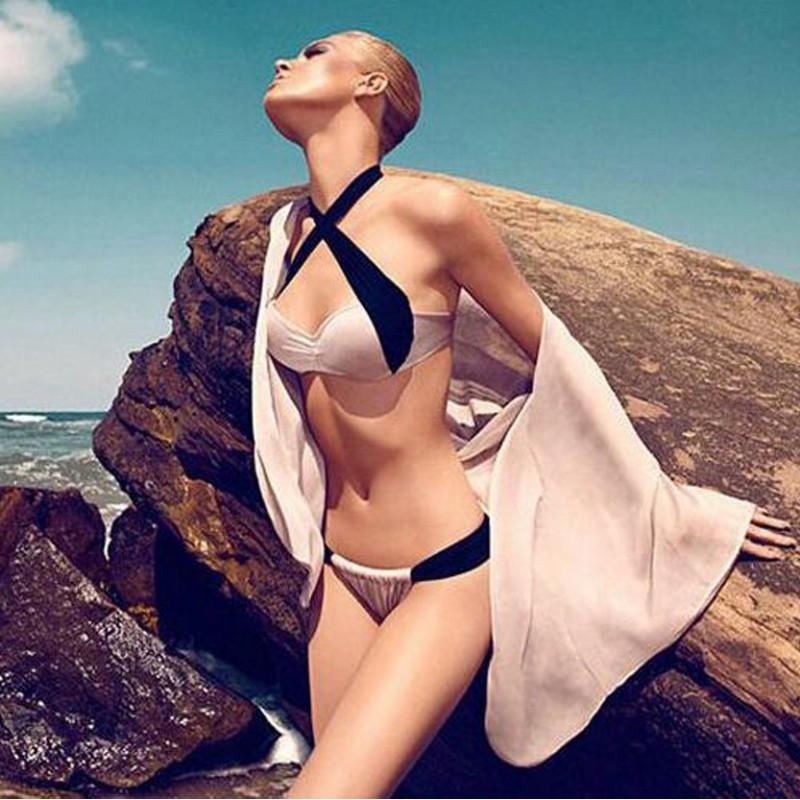Bikini Swimsuit Swimwear Tankinis Set Halter Back WLSW-001