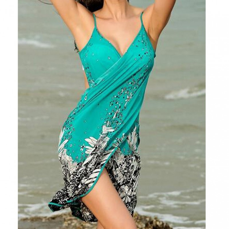 Swimsuit wimwear shoulder-straps skirt dress WLSW-002
