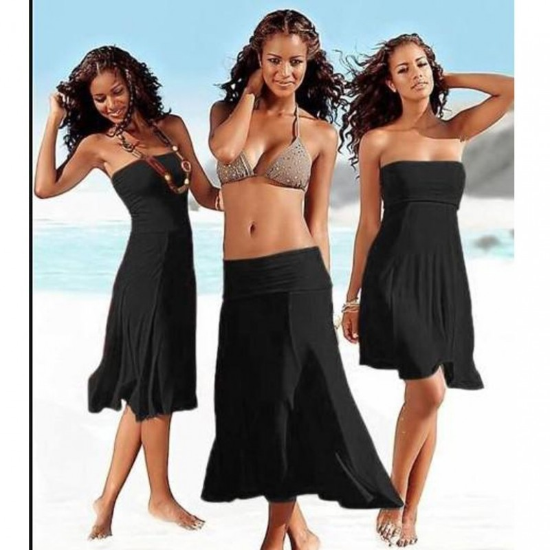 Summer Cover Up Wipe Bosom Strapless Dresses Beachwear WLSW-007
