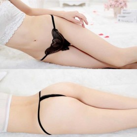 Butterfly G-string Sexy Lingerie Open Crotch Thongs WLPT - 007